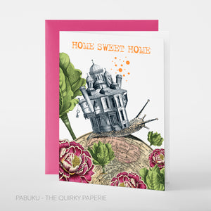 Home Sweet Home Snail Card