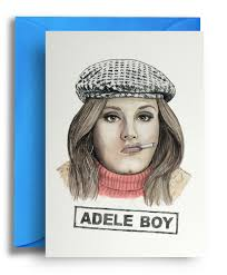 Adele Boy Card