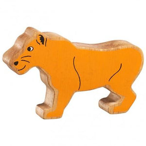 Lanka Kade Wooden Toy Fair Trade - Natural  Yellow Lioness