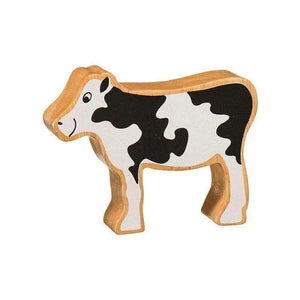Lanka Kade Wooden Toy Fair trade - Natural Black & White Calf