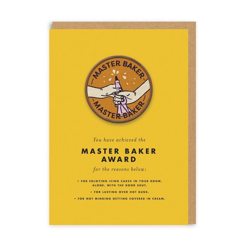 Master baker woven patch - Ohh Deer Card