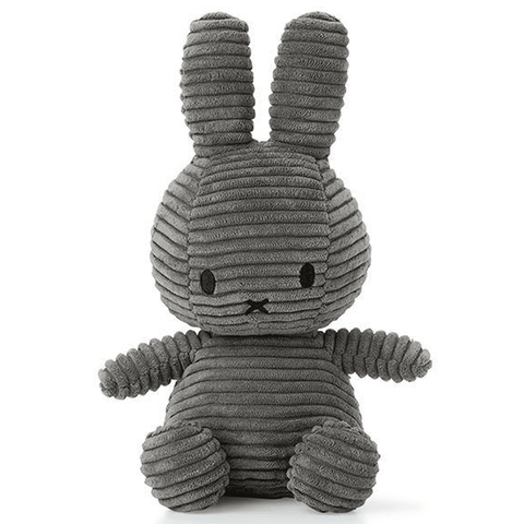 Miffy Medium Bunny Sitting Corduroy Plush Grey