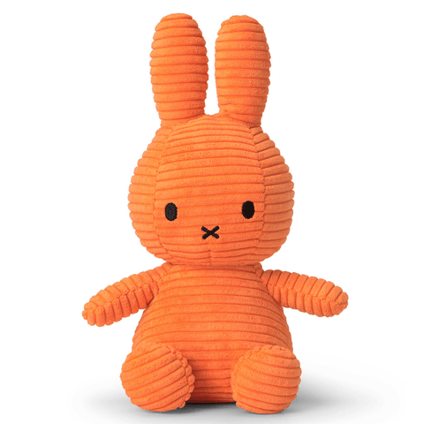 Miffy Small Bunny Sitting Corduroy Plush Orange
