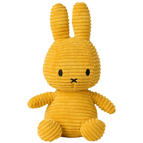 Miffy Small Bunny Sitting Corduroy Plush Yellow