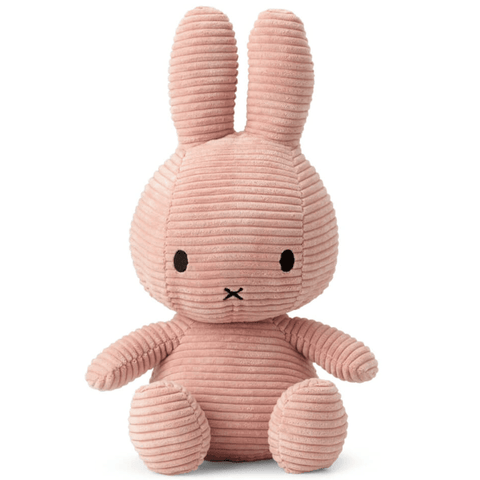 Miffy Small Bunny Sitting Corduroy Plush Pink