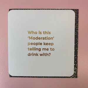 Who is this moderation - Quotish card