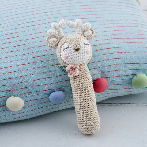 Deer Crochet Baby Rattle
