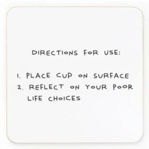 Directions For Use Coaster