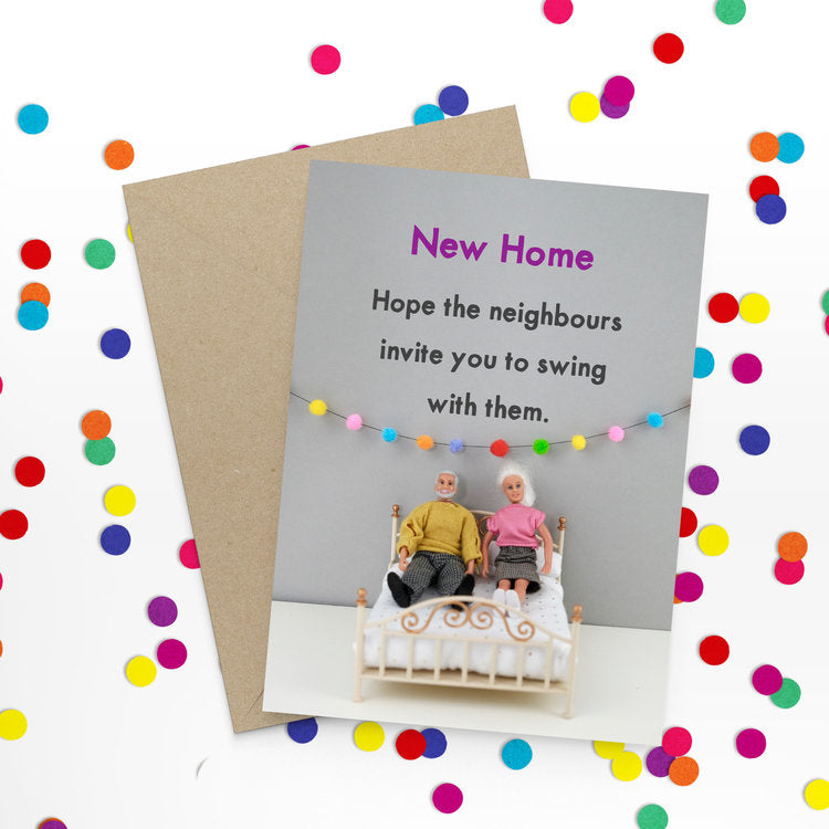 New home swingers - Bold and Bright Card