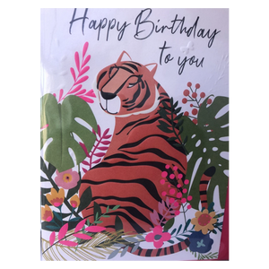 Happy Birthday To You Tiger Card