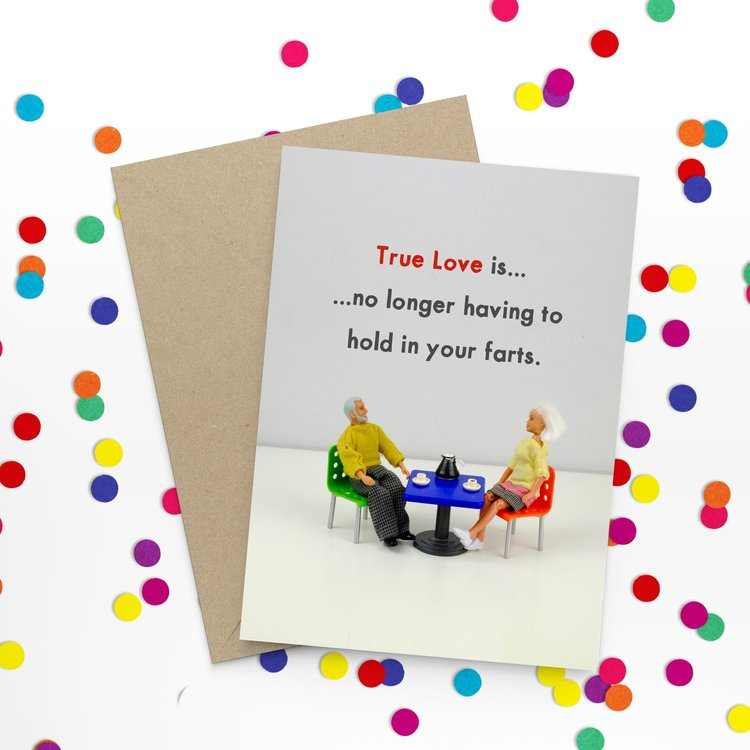 True love farts - Bold and Bright Card