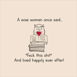 Wise woman- Hunky Dory Card