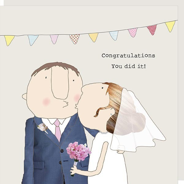 Congratulations You Did It Wedding Card