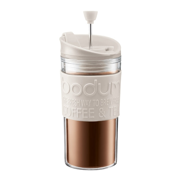 Bodum Travel Press 0.35L - Off White