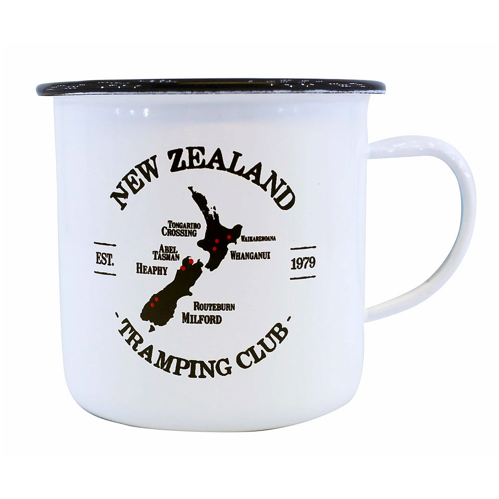 Moana Road Enamel Mug - NZ Tramping Club
