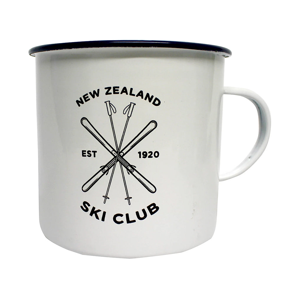 Moana Road Enamel Mug - NZ Ski Club