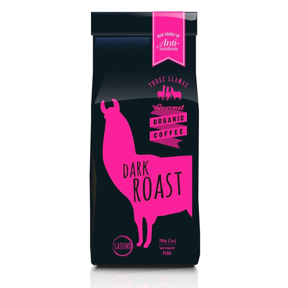 Three Llamas Coffee Organic Dark Roast