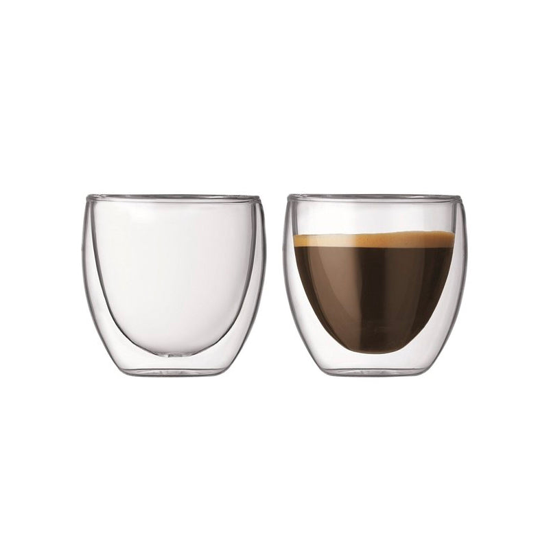 Bodum Pavina Double Wall Glass 0.25L - 2 Pack the coffee collective nz