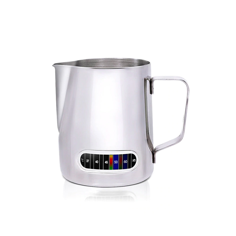 Stainless Steel Milk Pitcher 600ml with Thermometer