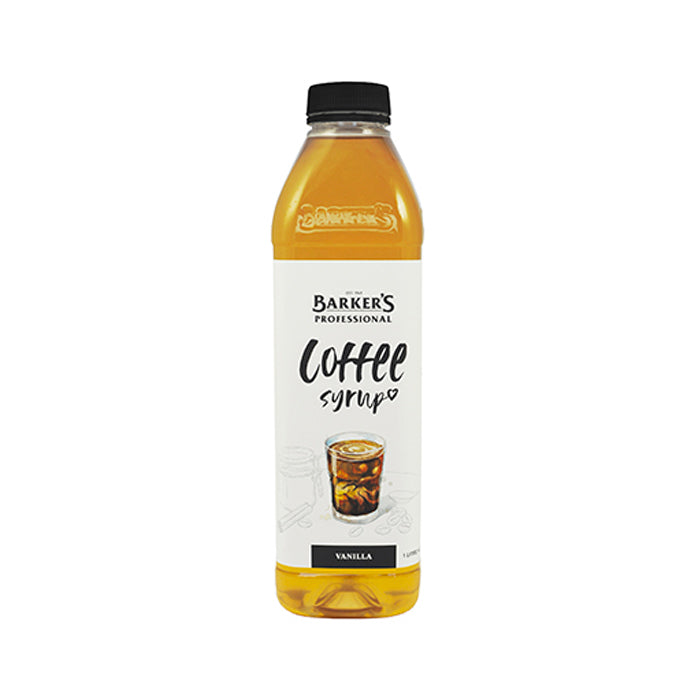 Barker's Coffee Syrup 1 Litre - Vanilla