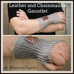Leather and Chainmaille Gauntlet Kit