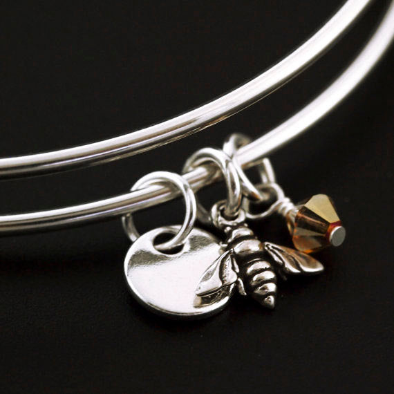 Sweet as Honey Sterling Silver Bangle