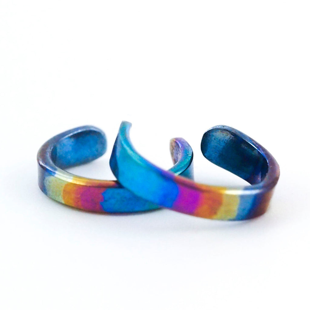 Cuff of Many Colors - Anodized Niobium Ear Cuff