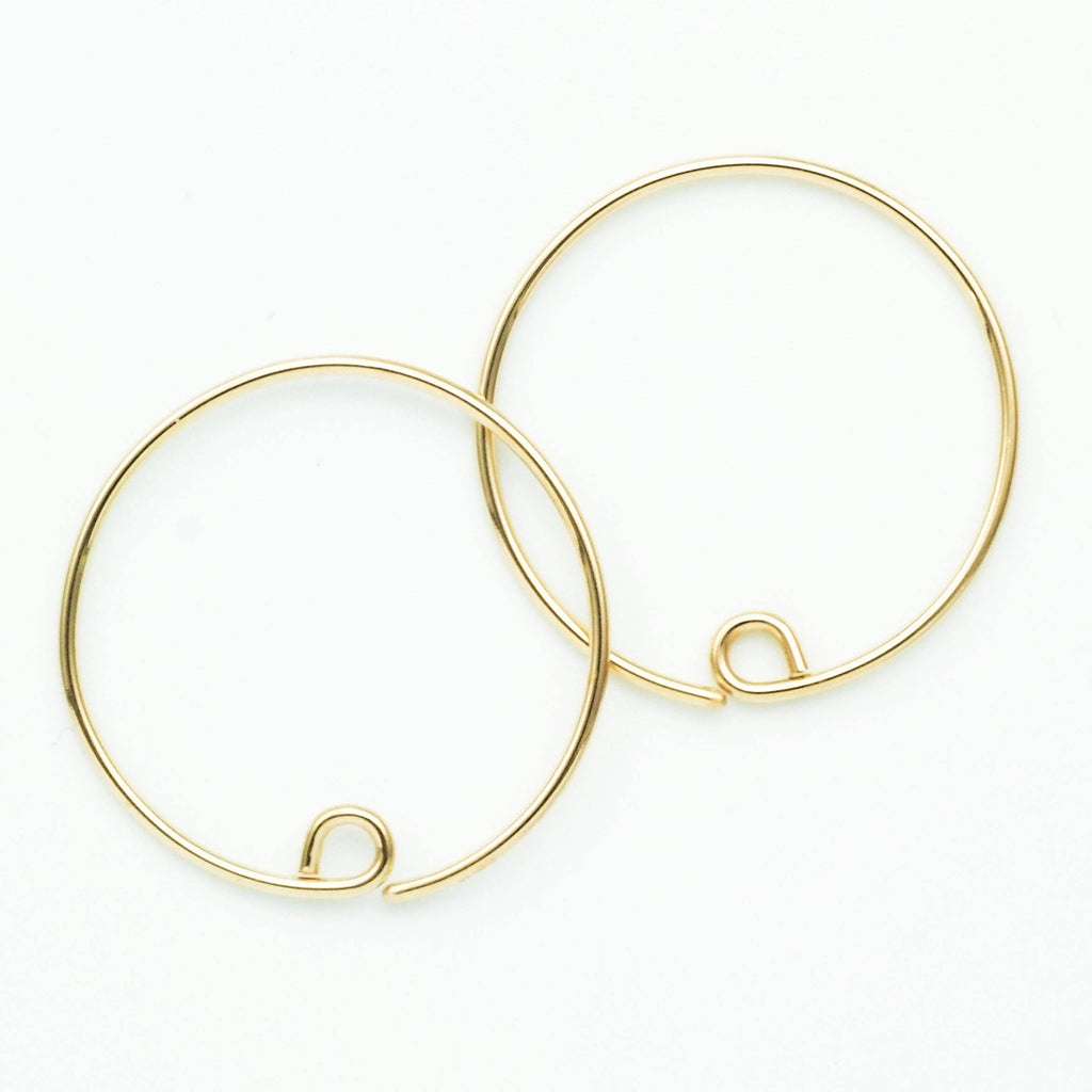 Switch Earring Hoops in 14kt Rose Gold Filled or 14kt Gold Filled - Diameters 10mm, 12mm, 15mm, 20mm, 25mm