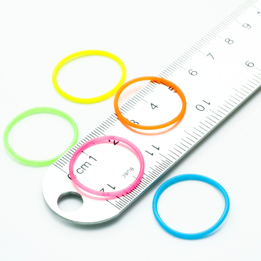 25 - 25mm OD Silicone Rubber Jump Rings You Pick Color - 18 Wonderful Colors including Neon