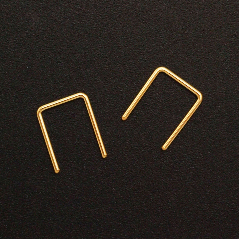 Simple Staple Earring in Sterling Silver, 14kt Yellow Gold Filled, 14kt Rose Gold Filled or 14kt Solid Gold