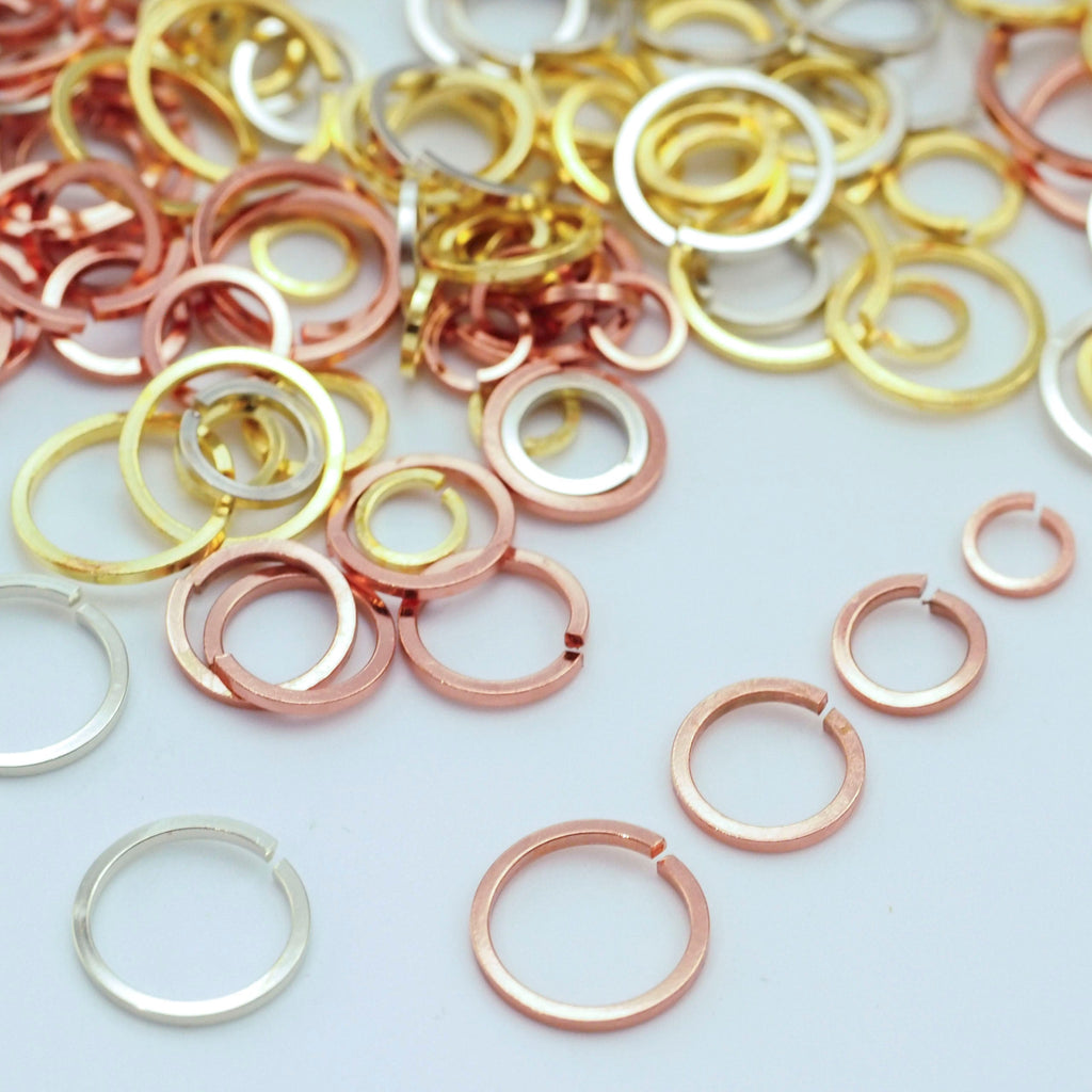 "Made in the USA! 1//2 Pound 18g Bronze jump rings w// a 5//16"" ID"