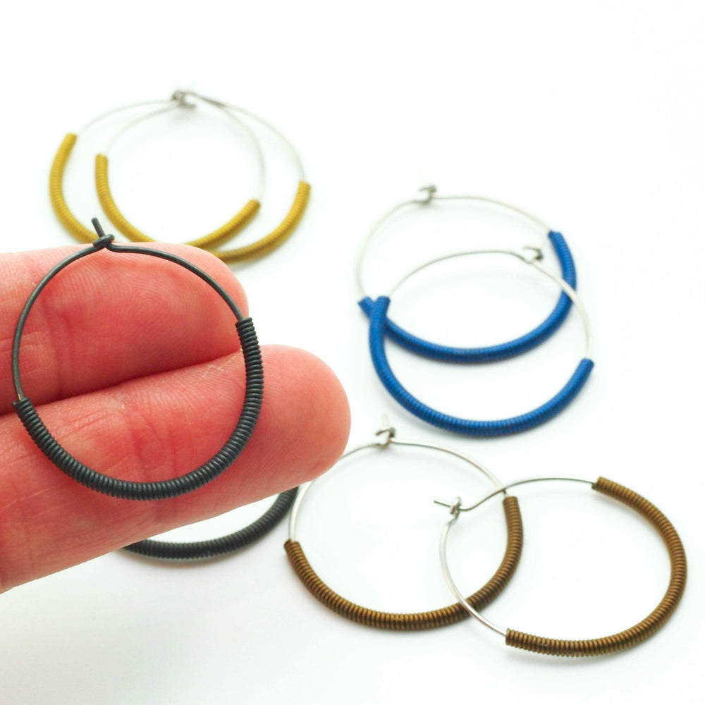 Large 25mm Hypoallergenic Hoops - That's A Wrap Niobium Earrings