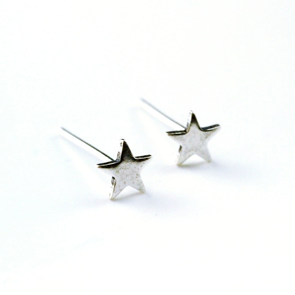 Starry Starry Sterling Silver Piercing - 4mm Stars for Your Nose - Straight, Screw Ring, Spiral, L Shaped