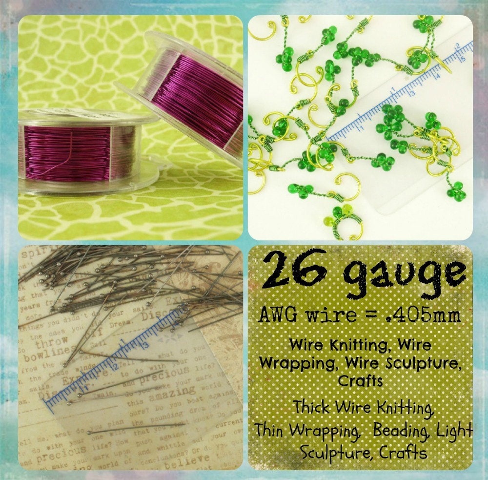 Vintage Bronze Wire  - Enameled Coated Copper - 100% Guarantee - YOU Pick the Gauge 14, 16, 18, 20, 21, 22, 24, 26, 28, 30, 32