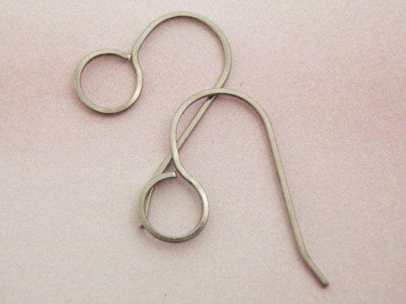 3 Pairs Handmade Large Loop Simple Ear Wires - All Your Favorite Materials