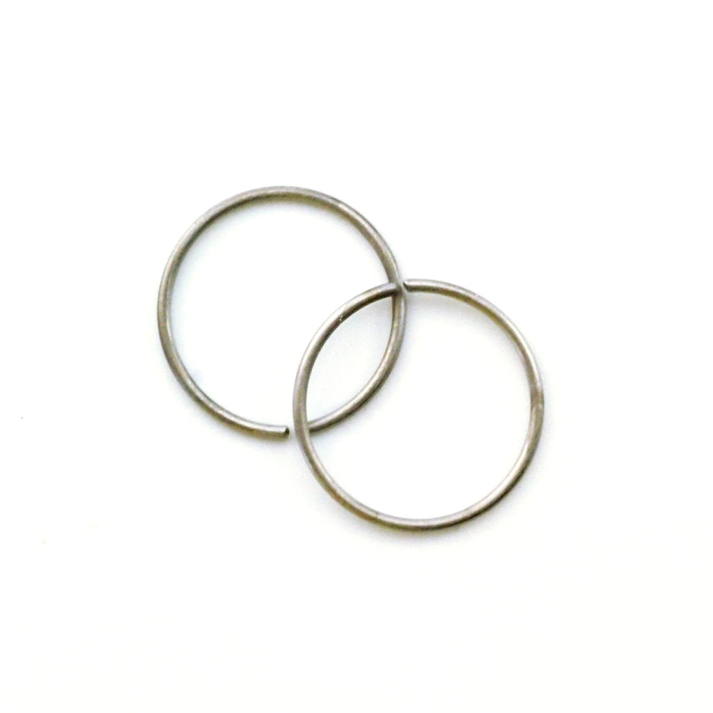 1 Simple Titanium Hoop Earring - 22, 20, 18, 16, 14, 12 gauge - 20 Colors to Select From