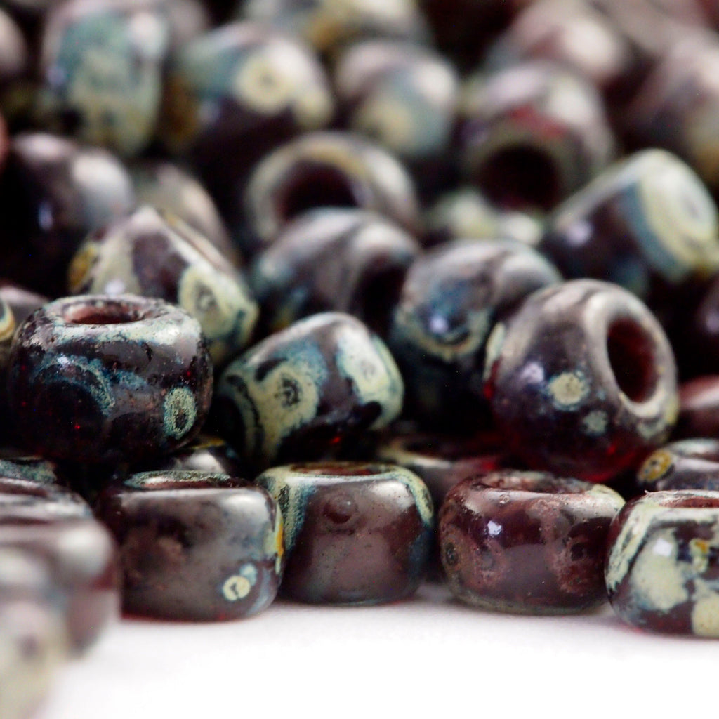 Transparent Ruby Picasso Miyuki 6/0 Glass Seed Beads - 100% Guarantee
