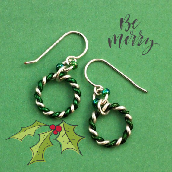 Mint Earrings - Peppermint, Spearmint or Butterscotch - Kit or Ready Made