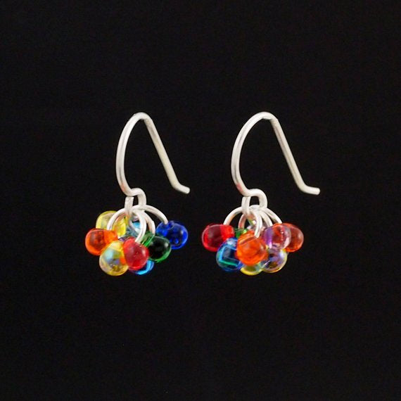 Sterling Silver Berry Berry Earrings - Ready Made or Kit - You Pick Bead Color - 100% Guarantee