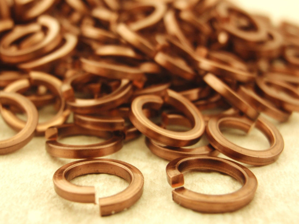 50 SQUARE Wire Jump Rings 18 gauge 4.25mm ID Silver Plate, Gold Color, Copper, Antique Copper, Vintage Bronze