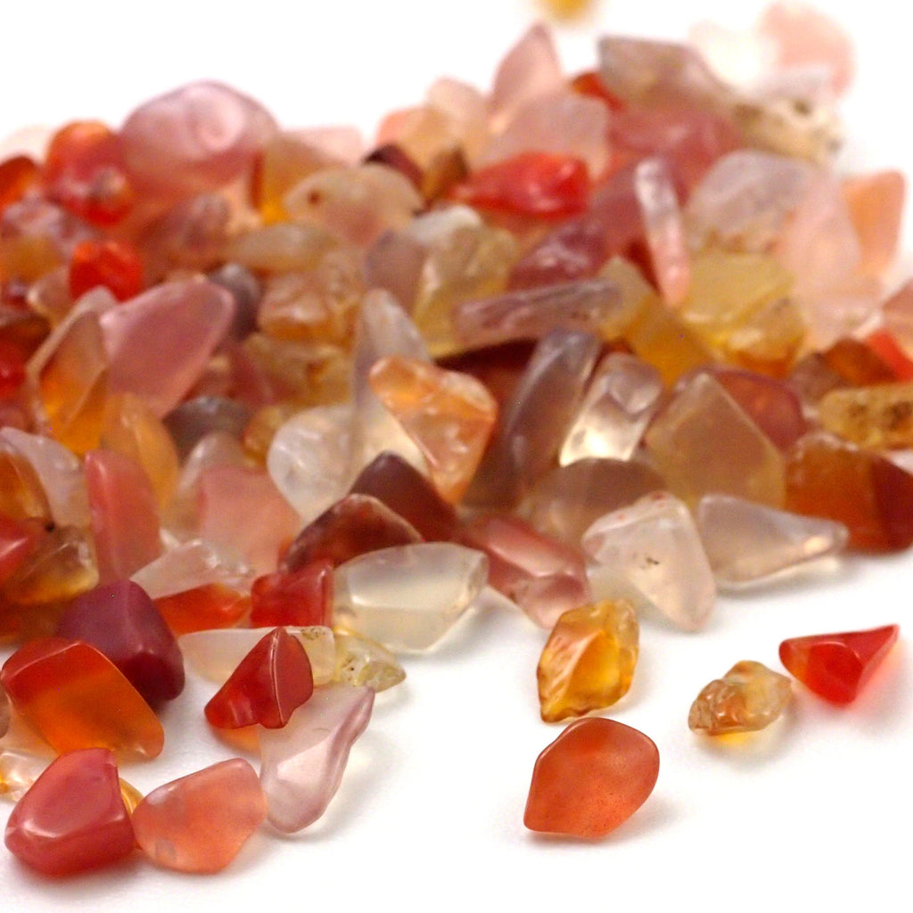 100 - Undrilled Carnelian Chip Beads - 24 Grams - 100% Guaranteed Satisfaction