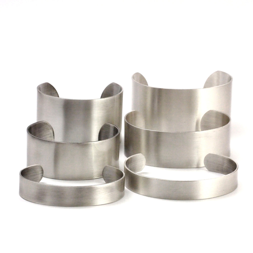 Bangle Cuff Bases in Stainless Steel - 6 Sizes to Choose From 12.5mm - 37.5mm