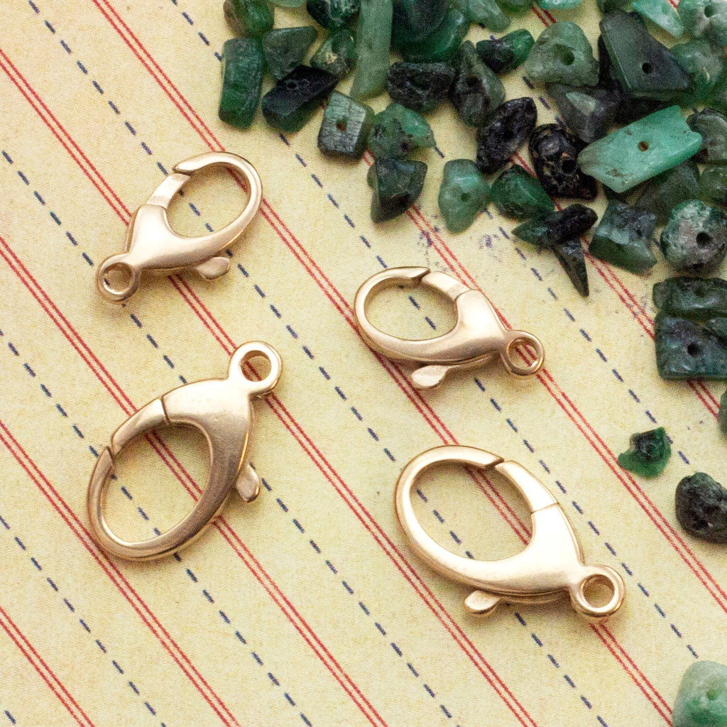 1 Solid Bronze Lobster Clasp - 13mm or 17mm - Made in the Italy - 100% Guarantee