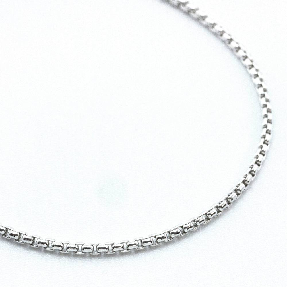 Argentium Sterling Silver Rounded Box Chain 1.8mm or 2.6mm - Custom Finished Lengths or By The Foot -  Made in the USA