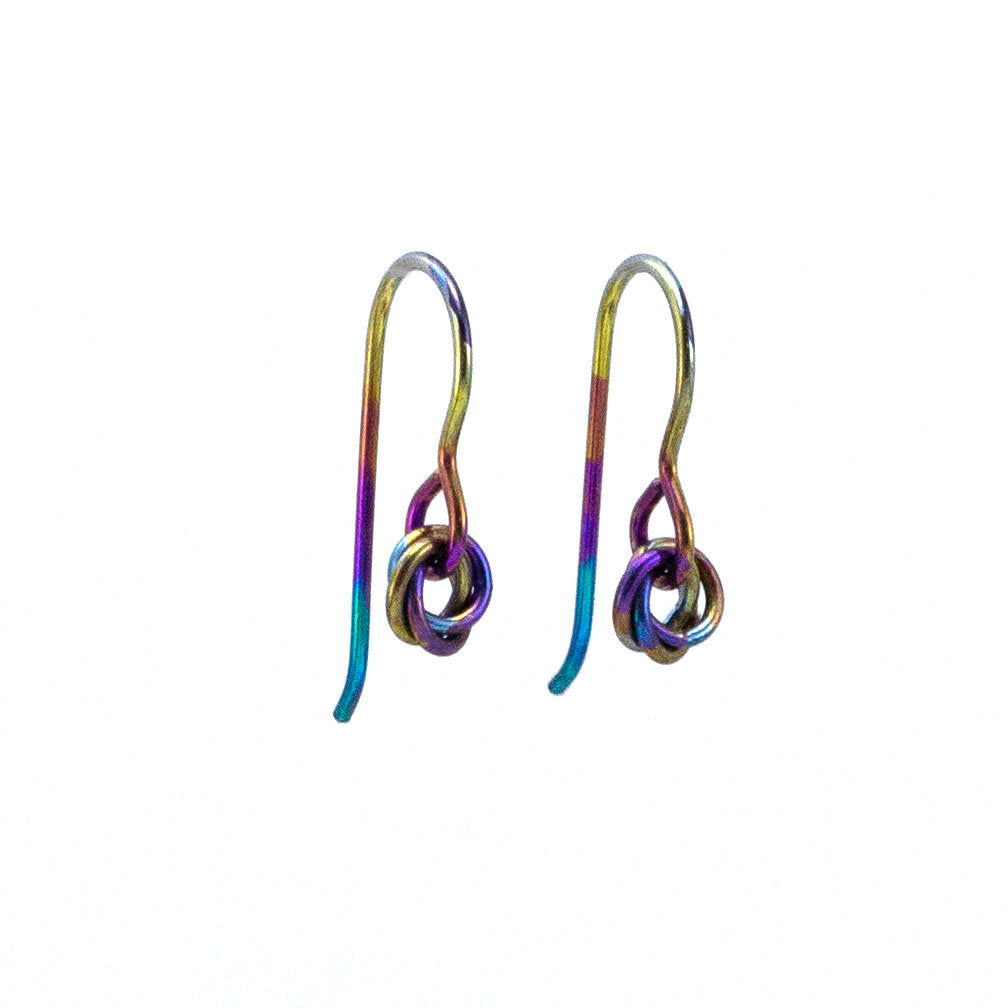 Mini Cuties Earrings in Rainbow Niobium or 20 Other Colors - Hypo Allergenic Good Looks