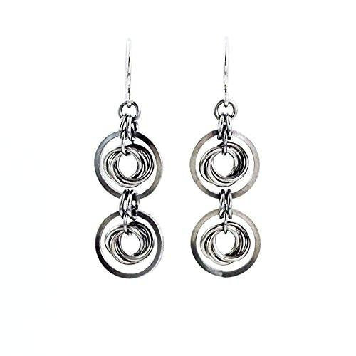 Chelsea II Silver Titanium and Niobium Earrings