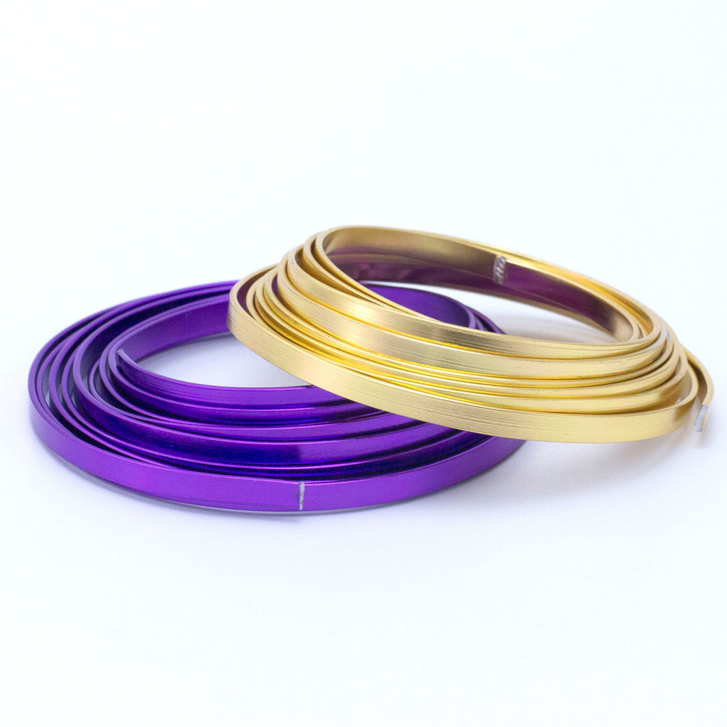 Flat Aluminum Wire - Easy to Form - You Pick Color - 100% Guarantee