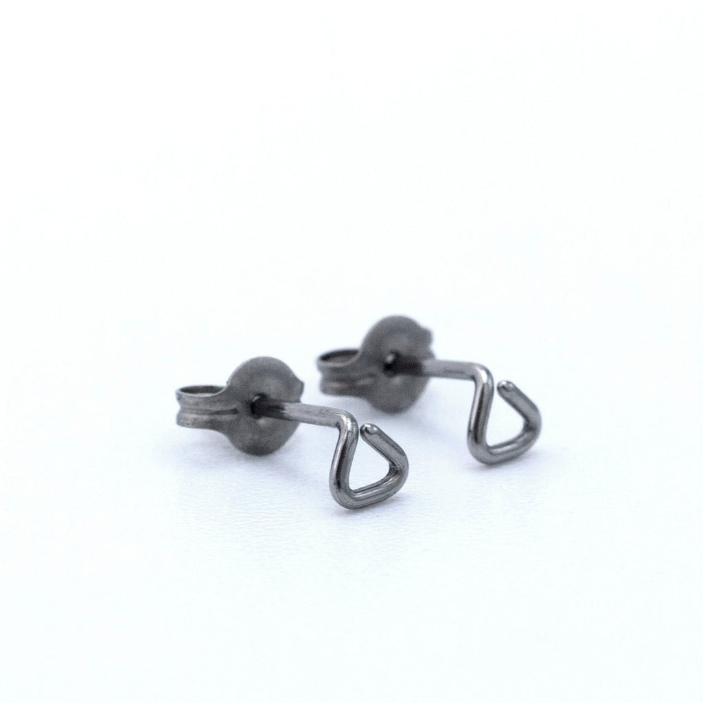 Micro Triangle Post Earrings - 3mm in Titanium, Niobium, Sterling Silver, 14kt Gold Filled, Surgical Steel