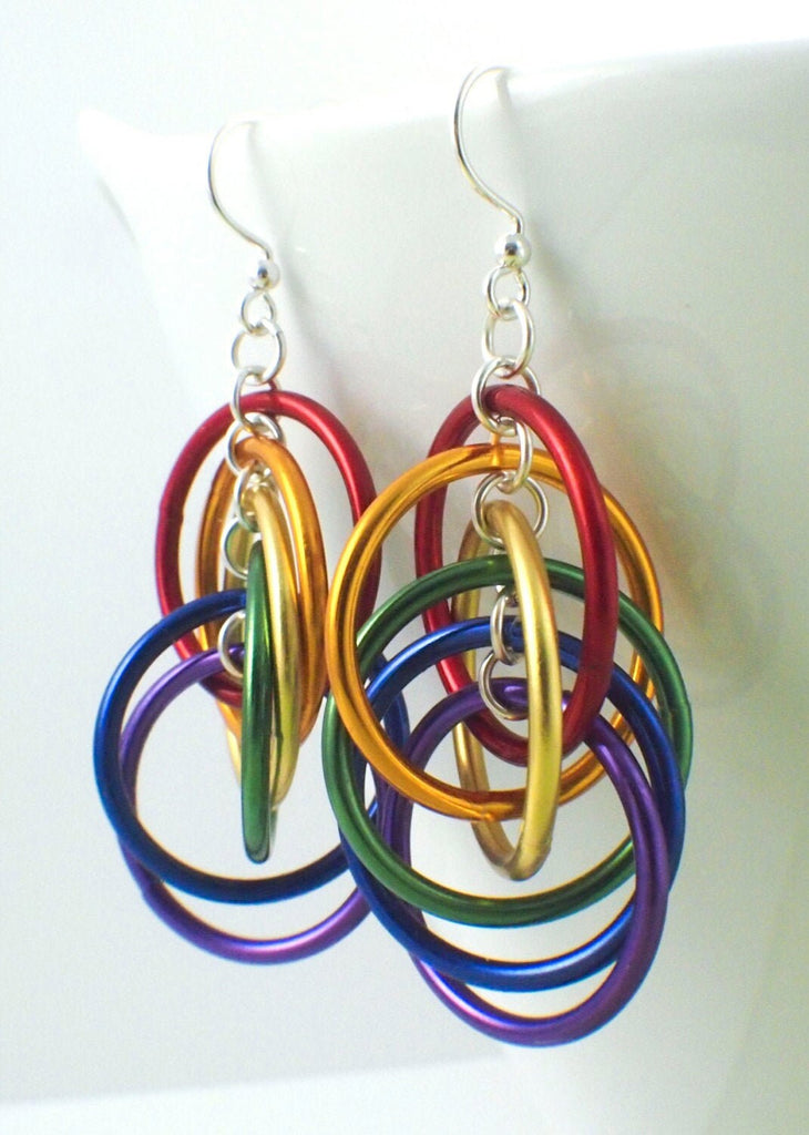 Rainbow Spiral Hoops Earrings Kit - Colorful, Easy and Perfect for the Beginner - Makes 3 Pairs