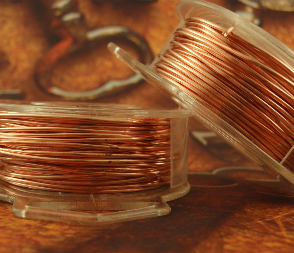 Copper Wire - Solid Raw Metal - Dead Soft 100% Guarantee You Pick Gauge 2, 4, 6, 8, 10, 12, 14, 15, 16, 18, 20, 21, 22, 24, 26, 28, 30, 32